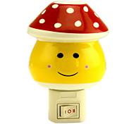 Red Dots Mashroom LED Night Light (110V-240V)