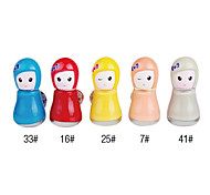 Cute Doll Shaped Nail Polish No.4 (Assorted Colors)