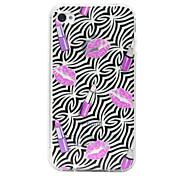 Eyeko Hot Lips Pattern Terug Case voor iPhone 4/4S