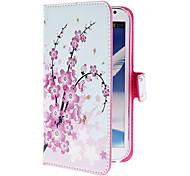 Mini elegante bloem patroon pu lederen tas met standaard en Card Slot voor Samsung Galaxy Note 2 N7100