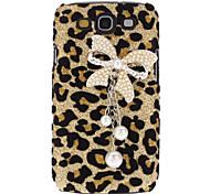 Leopard cas dur de modèle bowknot avec strass pour Samsung Galaxy S3 I9300