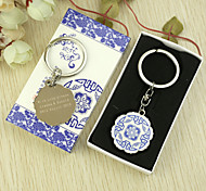 Personalized 6pcs Blue-and-white Style Keychain