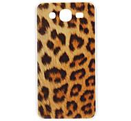 Brown Caso duro del patrón del leopardo para Samsung Galaxy I9152 5.8 Mega
