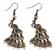 Ancient Golden Peacock Earring