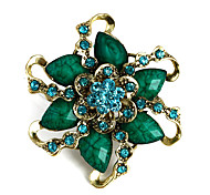 broche exquisita flor de resina de la hoja de las mujeres (color al azar)