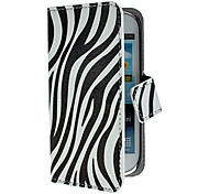 Zebra Pattern PU Leather Case with Stand and Card Slot for Samsung Galaxy S3 mini I8190