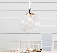 60W E27 Pendent Light in Glass Ball Feature