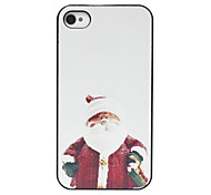 Cartoon Santa Claus Pattern Back Case for iPhone 4/4S