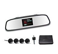 Car Rearview Mirror with 4 Radar Parking Sensor System (VFD Display and Buzzer Alarm)
