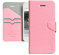 Pink Ultrathin Protector Flip-Open PU Leather Case for iPhone 5(Color Randoms)