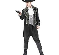 Brillante Caribbean Pirate Nero Costume Halloween Abbigliamento Uomo