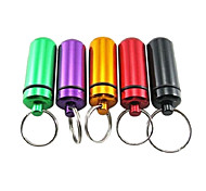 Waterproof Medicine Bottle with Key Ring for Outdoors (Random Color)