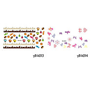 5PCS Water Transfer Printing Cartoon Nail Stickers(Assorted Colors,No.13-16)