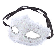 Lace Pattern Half Mask for Masquerade Party (Random Color)