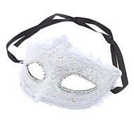 Lace Padrão Meia máscara para Masquerade Party (cor aleatória)