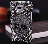 Skull Full Zircon Back Case for Samsung Galaxy S2 I9100