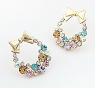 Gold Bow Fashion Earrings