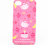 ABS Teapot Dessert Back Case for iPhone 4/4S