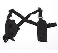 Genuine War Game Military Armpit/Oxter Gun Pistol Holster - Black (100cm-Strap Length)