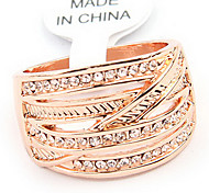 Fashion Alloy Gold Strass Ring
