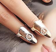 l'anneau coeur creux ongle des femmes (couleur aléatoire)