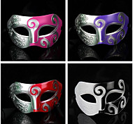 Hard Masquerade Carved Retro Halloween Mask (Assorted Color)