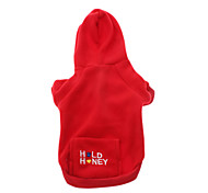Dog Hoodie Red / Blue / Pink Dog Clothes Winter Letter & Number