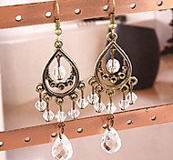 European and American retro palace tassel earrings drop earrings ear clip Ethnic E183