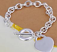 z&X® a forma di cuore pendente in argento placcato braccialetto