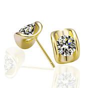 ouro banhado de ouro genuína brincos de liga de estanho verde lkn18krgpe268