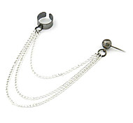 Women's  European And American Style Textured Silver Ear Clip E389