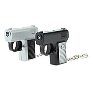ABS Gun Style Keychain with LED & Voice (Random Color)