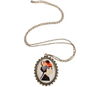 Coppery Pendant Necklaces Party Jewelry