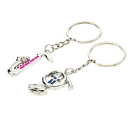 A Pair Instrument Shaped Lovers Keychains