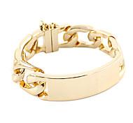 Golden Alloy Twist Bracelet