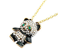 Fashion black and white panda necklace N10