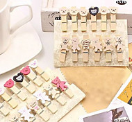 Bear and Love Heart Wood Clamp(12 PCS)
