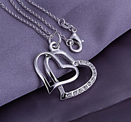 Heart Shaped Pendant With Rhinestone (Pendant Only)