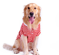 Puro cotone Stripe Pet Style T-shirt per cani (a colori assortiti, S-XL)