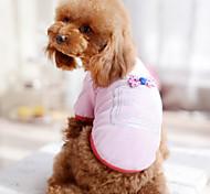 Hunde T-shirt Schwarz / Weiss / Blau / Rosa / Rose Hundekleidung Sommer Schleife