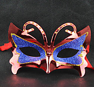 Red&Blue Masquerade Butterfly Retro Halloween Mask with Rhinestone