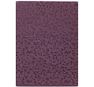 Honeycomb Texture protection en cuir PU Stand Case Cover pour iPad 2/3/4 (Purpl)