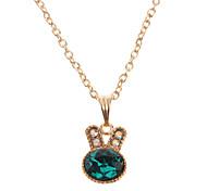 Cute Rabbit Crystal Pendant Necklace