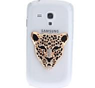 Hierro leopardo patrón plástico transparente caja trasera dura para el Samsung Galaxy S3 Mini i8190