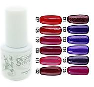 yemannvyou®sequins uv Farb GelNagellack no.121-132 (5 ml, farblich sortiert)