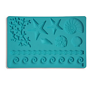 Fondant & Gum Paste Fabric Designs Silicone Mold Sea Life