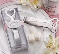 gioco po 'di zucchero! pinze da zucchero cuore a tema in acciaio inox