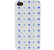 Abweichungen Concise Lila und Blau Runde Punkt-Muster Smooth Surface PC Hard Case für iPhone 4/4S