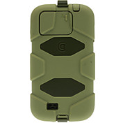 Hybrid Survivor Silicone Plastic 2 In 1 Waterproof Case for Samsung Galaxy S4 I9500 with Back Belt Clip Holster