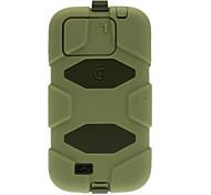 Hybrid-Silikon-Plastik Survivor 2 In 1 Wasserdichte Tasche für Samsung Galaxy i9500 mit S4 Zurück Gürtelclip Holster